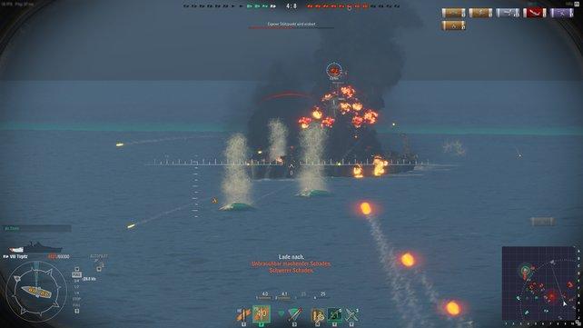 Lichterloh brennende Schlachtschiffe und donnernde Salven versprechen das perfekte Seeschlacht-Gefühl!