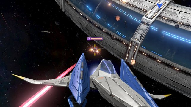 An der Raumstation liefert ihr euch ein Gefecht mit Fiesling Pigma!