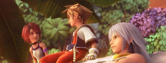 Kairi, Sora und Riku haben viel Spaß zusammen