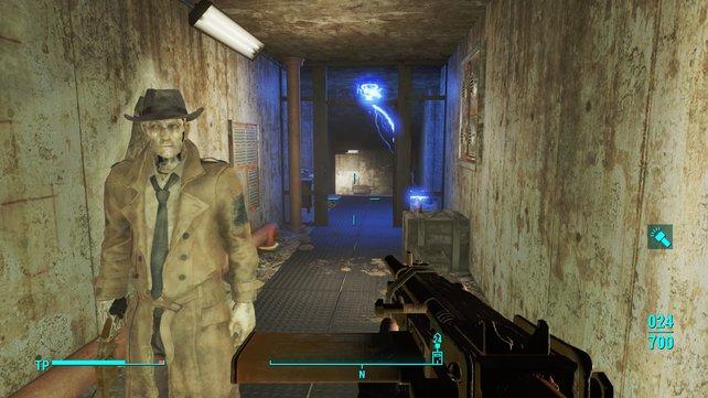 Nick verwendet einen Revolver wenn es brenzlig wird.