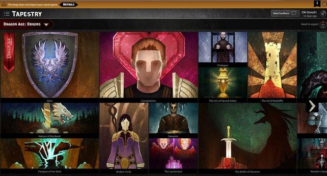 Über die Seite Dragon Age Keep könnt ihr eure individuelle Vorgeschichte zusammenbauen.