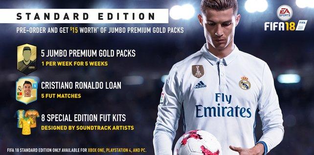Die Standard Edition von FIFA 18.