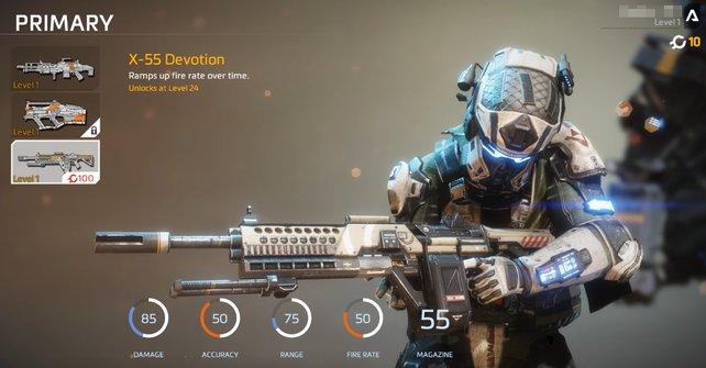 X-55 Devotion: Ein eleganter Name und eine besondere Eigenschaft zeichnen diese Waffe aus.