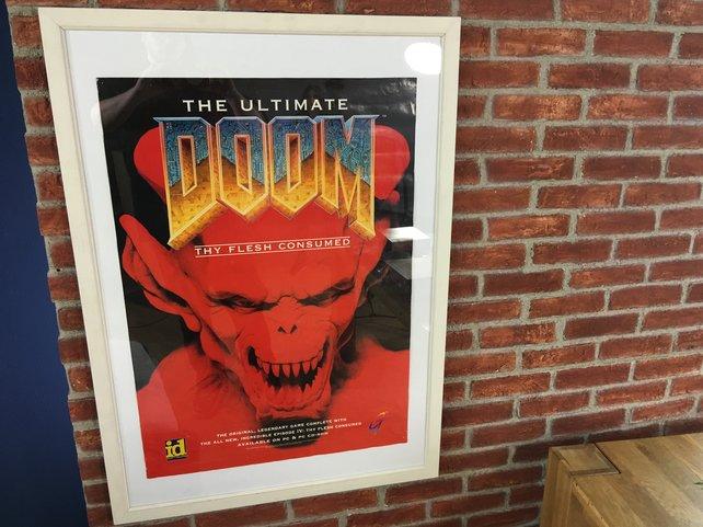Eine Illustration zu einer Doom-Auflage als Poster.