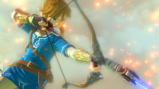 Link ist auch mit Pfeil und Bogen sehr gewandt.