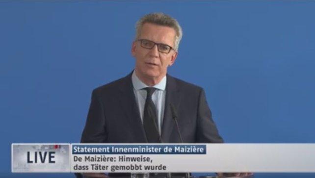 Die Pressekonferenz des Innenministers auf N24.