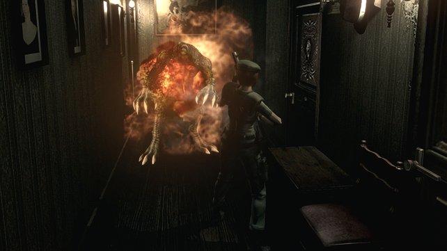 Der Flammenwerfer heizt den Gegnern mächtig ein.