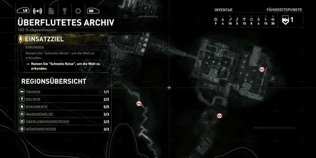 Karte: Überflutetes Archiv.