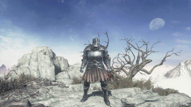 Eine aus schwarzem Eisen gefertigte Rüstung.