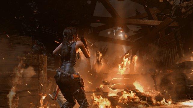 An Action wird bei Laras Rückkehr nicht gespart!