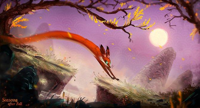 """In dieser Zeichnung seht ihr den Hauptdarsteller von """"Seasons after Fall"""". Ein normaler Fuchs kann so etwas eher nicht."""