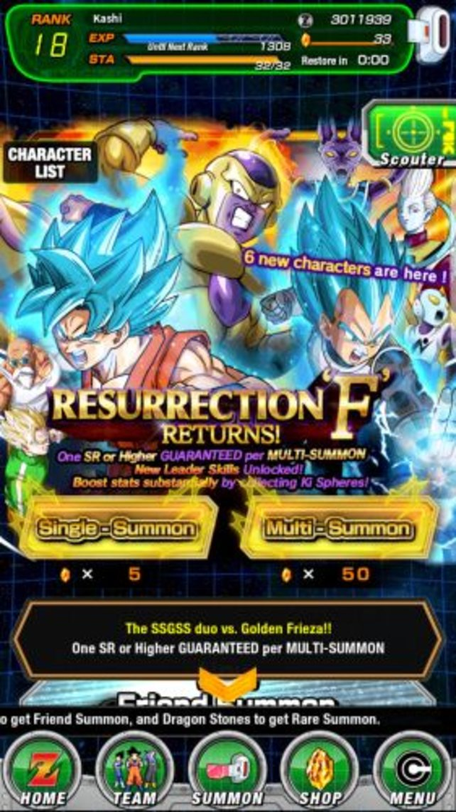Single-Summons und Multi-Summons liefern euch neue Charaktere.