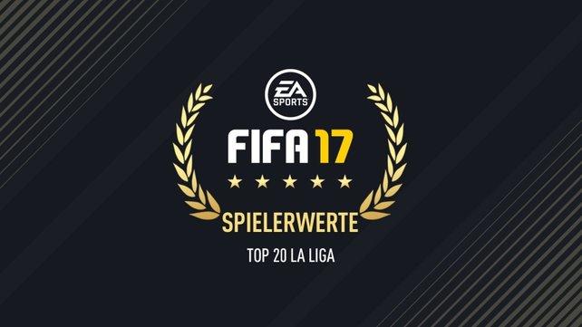 Alle FIFA 17 – La Liga Top 20–Spieler-Ratings in der Übersicht.