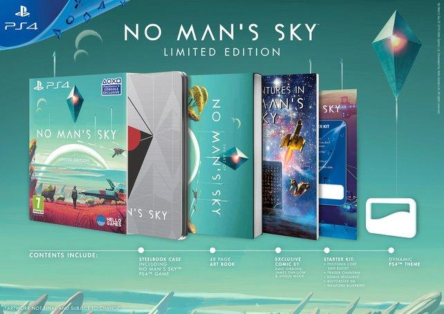 Die limitierte Version von No Man's Sky mit Steelbook und mehr