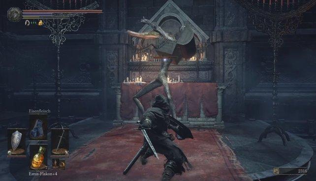 Vorsicht bissig: In der Kathedrale de Abgrunds versteckt sich eine weitere Mimic-Truhe.