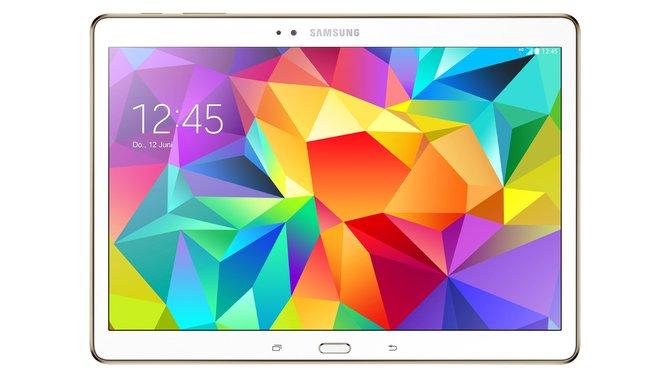 Schickes Android-Tablet: Das Galaxy Tab S von Samsung bietet ein farbenfrohes Display und hohe Auflösung.