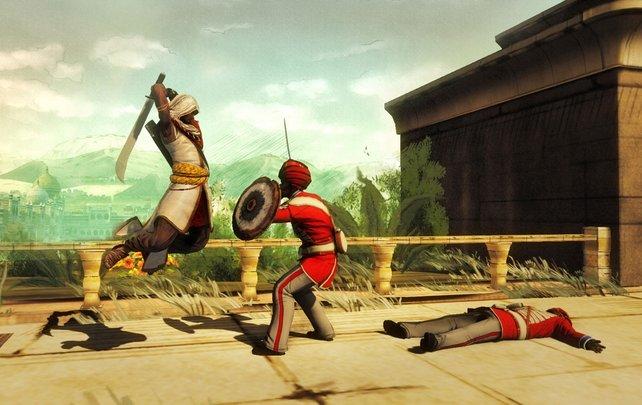 Ob man den Turban der Soldaten auch spalten kann?
