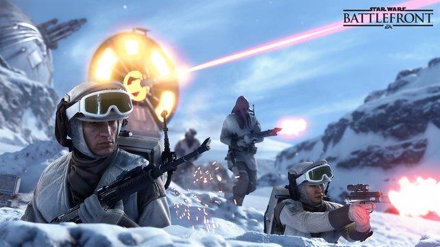 Die Rebellen warten auf die imperiealen Sturmtruppen.