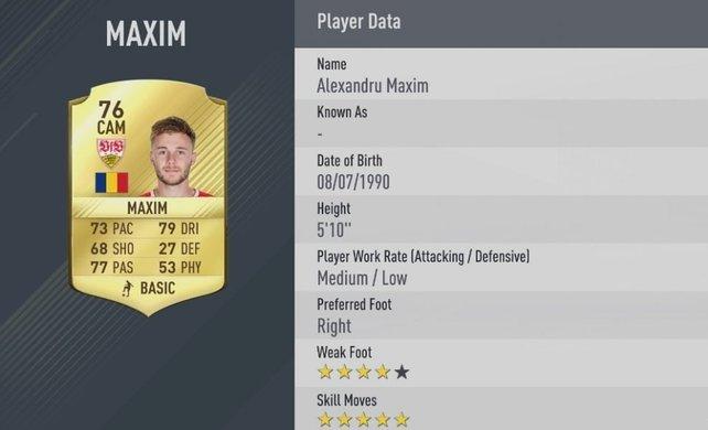 5-Sterne-Skiller: Maxim ist wohl der beste Trickser der zweiten Bundesliga.