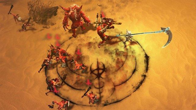 Markiert Feinde mit dem Egelfluch, bevor ihr sie besiegt, um Gesundheit aus ihnen zu ziehen.