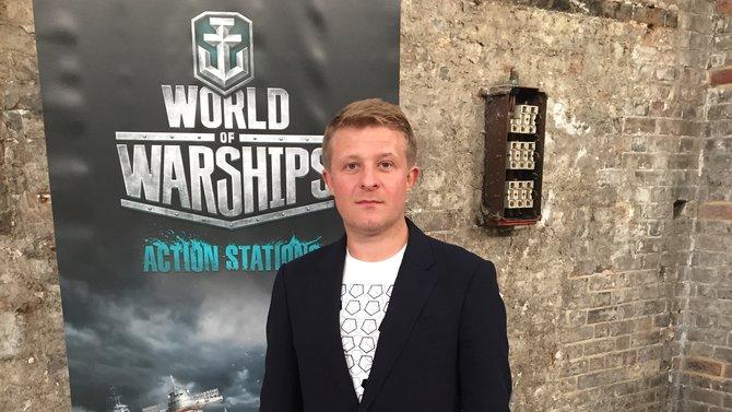 Victor Kislyi, Gründer von Wargaming, präsentiert das neue Free-2-Play-Spiel World of Wargames beim Launch-Event.