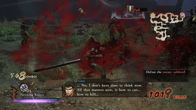 An Blut mangelt es dem Spiel zumindest nicht.