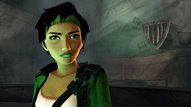 Mit einer Kamera gewappnet möchte Jade die Alien-Invasionen aufklären.