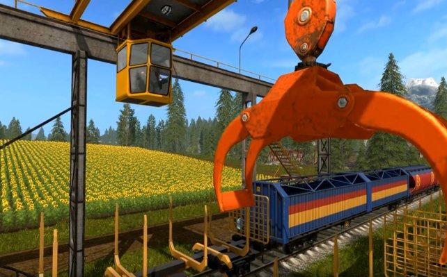 Ihr könnt jedes Fahrzeug steuern und auch den Zug zum Endabnehmer eurer Feldfrüchte!