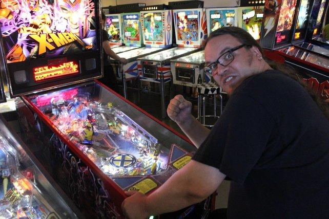 Onkel Jo am X-Men-Flipper in Las Vegas.