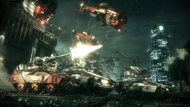 Der mysteriöse Arkham Knight rückt mit einer ganzen Armee an.