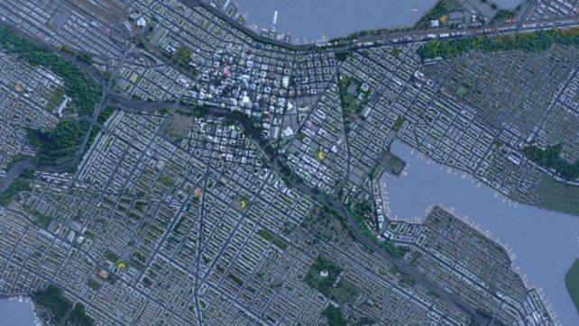 Hier seht ihr den Nachbau von Seattle aus der Vogelperspektive.