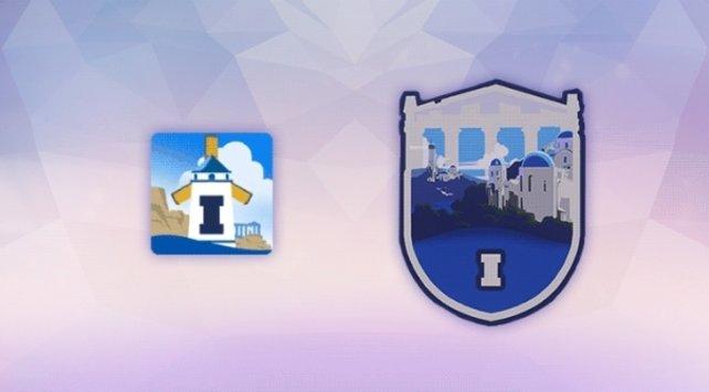 Das Icon und das Spray aus Season 1, die die Karte Illios zeigen.