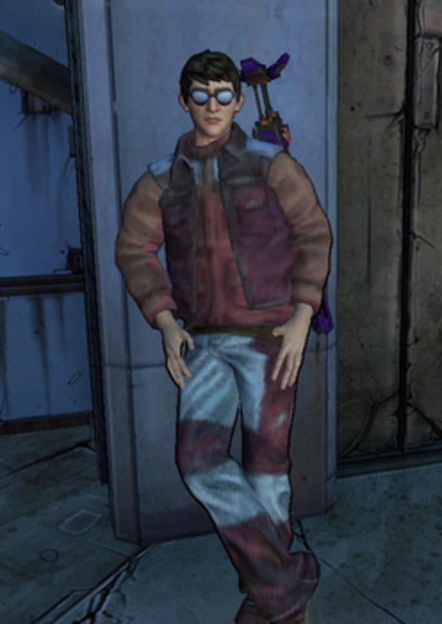 Das ist der Charakater Michael Mamaril in Borderlands 2, der an Carlos Freund erinnern soll.
