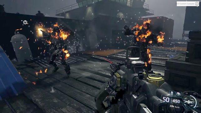 Mit Cybercore entflammt ihr Gegner oder schließt Roboter kurz.