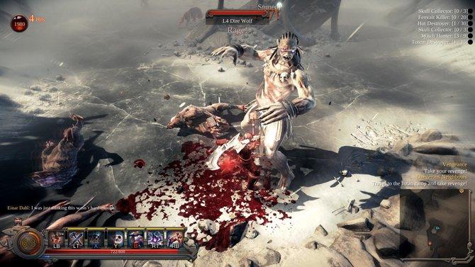 Die Welt von Vikings - Wolves of Midgard präsentiert sich blutig. Je größer die Gegner sind, desto tiefer fallen sie.