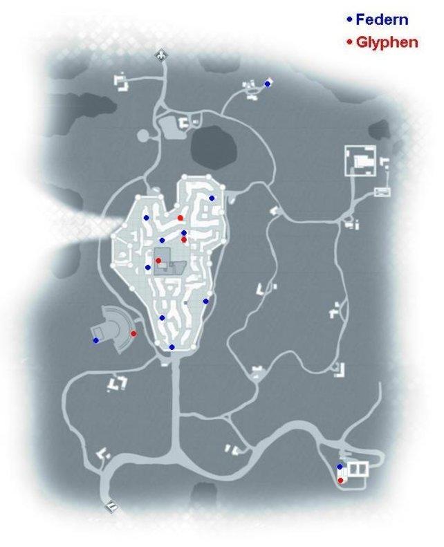 In diesem Gebiet von Assassin's Creed 2 gibt es nur Federn und Glyphen zu finden.