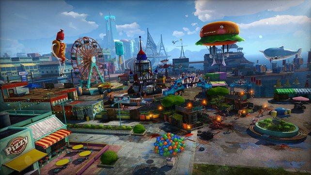 Kreativ: Die Spielplatz-Atmosphäre macht unheimlich viel Laune. Das Spiel sagt damit unmissverständlich: Los, zock mich!