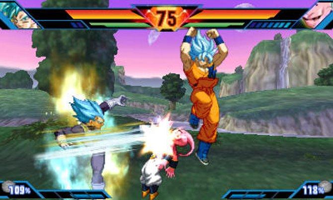 Son Goku und Vegeta mit blauen Haaren? Na klar, das ist die neue Super-Saiyajin-Form.