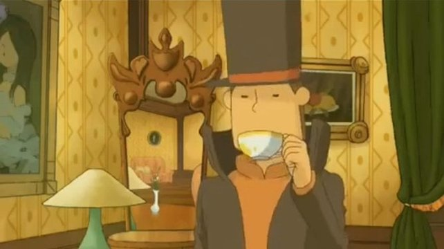 für einen Tee hat Professor Layton immer Zeit.