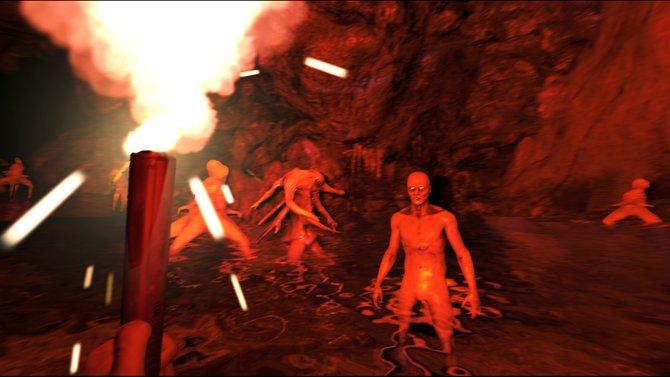 The Forest: Gegen die Kannibalenhorde habt ihr keine Überlebenschance. Schnell weg!
