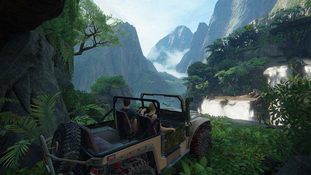 Mit dem Jeep ins Gebirge - nur im Spiel kann das eine gute Idee sein.