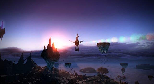 In Heavensward könnt ihr mit einem Flug-Reittier oder einem Luftschiff die Welt erkunden.