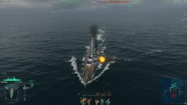 War da was? Die gepanzerten Bordwände von Schlachtschiffen sind gegen Explosivgranaten beinahe immun.