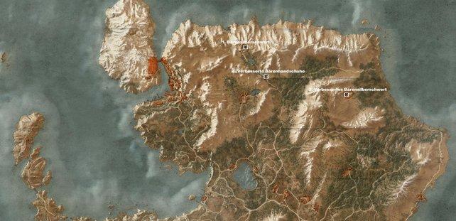 Bärenschulenausrüstung in Skellige – nördlich auf der Hauptinsel
