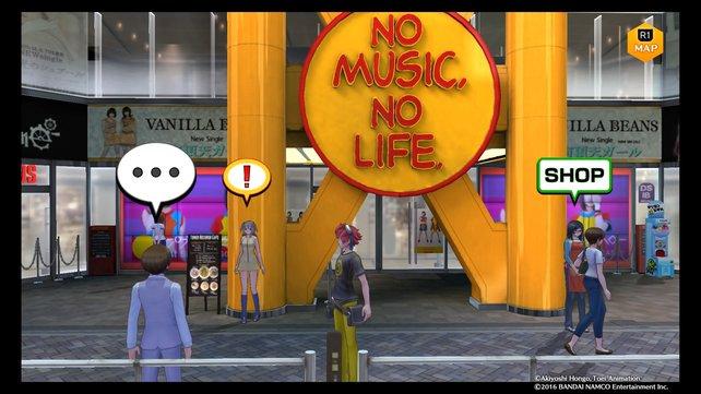 Die junge Frau vor dem Shibuya Music Store gibt euch ein Keyword.