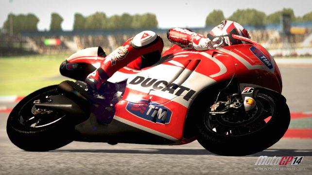 Moto GP 14 bietet euch unter anderem Zugriff auf die Fahrer und Rennställe der Saison 2013 und 2014.