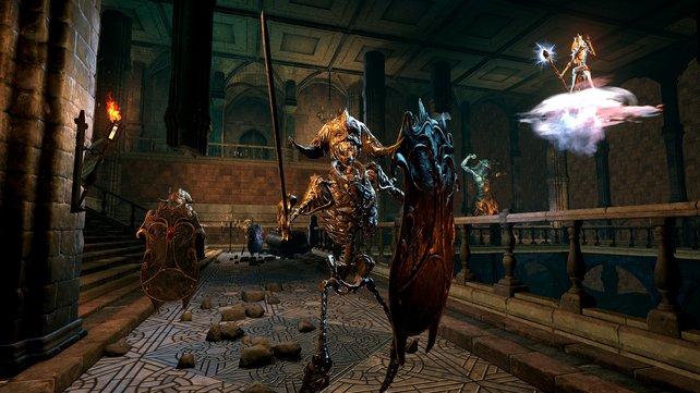 Geht ein Widersacher - wie hier das Skelett - in die Nahkampf über, hat der Fernkampf-erprobte Held aus Mage's Tale schlechte Karten.