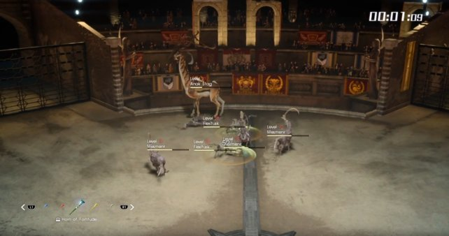 Im Screenshot seht ihr (links unten im Bild), dass eine Gryda der Zähigkeit eingesetzt wurde.