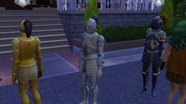 Die Heckenritter sind nur eine von vielen Gruppen, denen sich eure Sims anschließen können.