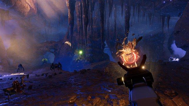 Die Action führt auch in unterirdische Höhlen, wo sich noch mehr Gegner verstecken.